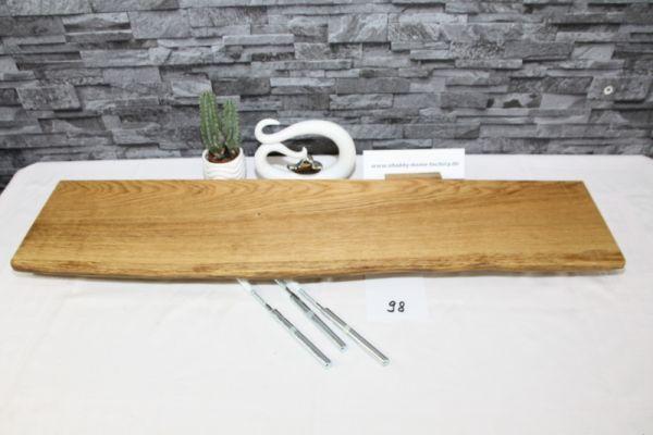 Wandboard Eiche 92 cm Baumkantenbord massiv