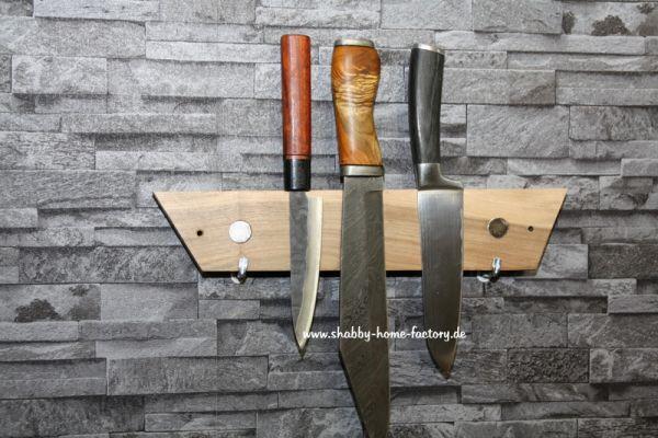 Messerleiste magnetisch Messerblock Nußbaum Messerhalter