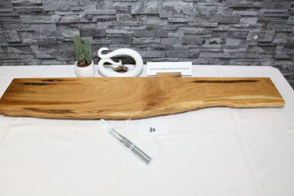 Wandboard Eiche 101 cm Baumkantenbord massiv