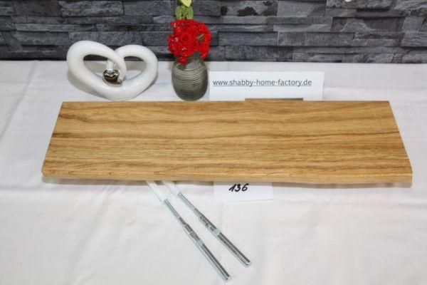Wandboard Eiche massiv Baumkante 54 cm geölt