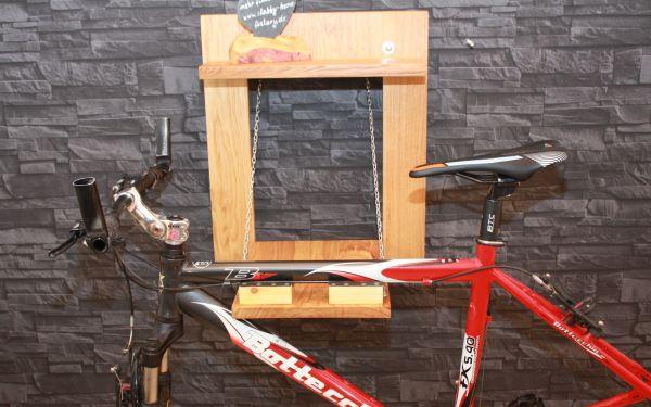 Fahrrad Wandhalterung Holz geölt massiv klappbar Eiche