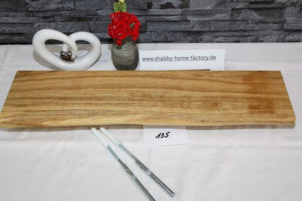 Wandboard Eiche massiv Baumkante 59 cm geölt