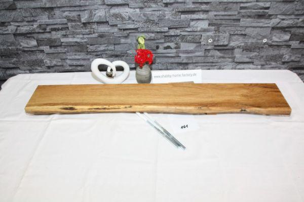 Wandboard 93 cm Eiche massiv Baumkante
