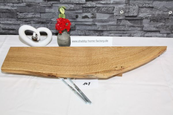 Wandboard Eiche massiv Baumkante 71 cm