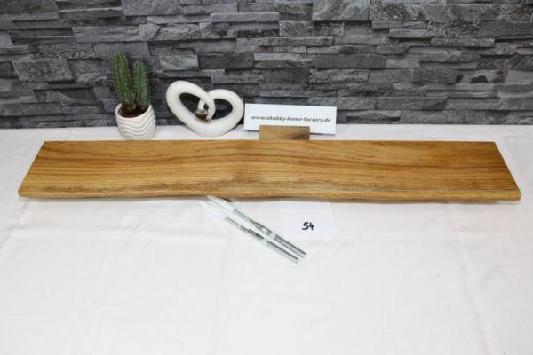 Wandboard Eiche massiv 87 cm B x 13 cm T