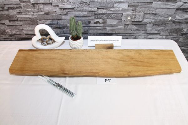 Wandboard Eiche Baumkante 81 cm Wandbrett