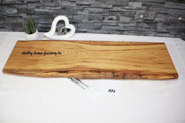 84 cm Wandboard Eiche massiv geölt mit besonderer Maserung