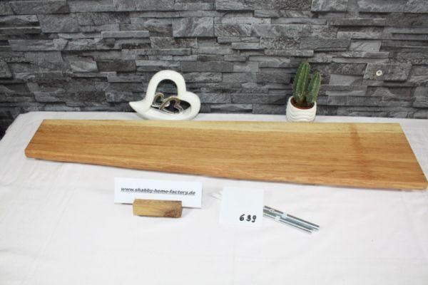 Wandboard Eiche 93 cm massiv geölt mit Baumkante