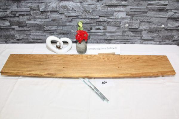 Wandboard 90 cm Eiche massiv Baumkante
