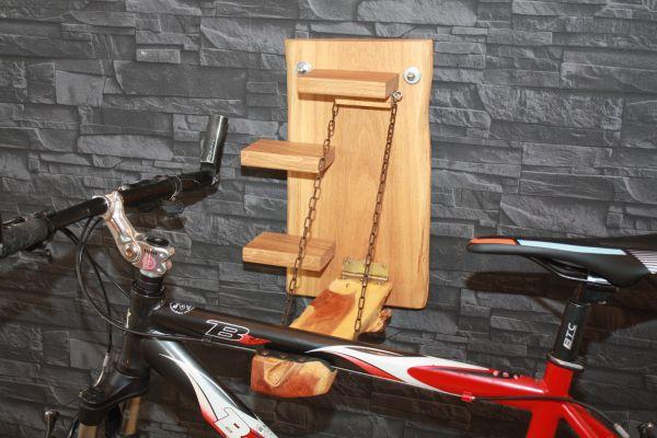 Fahrrad Wandhalter klappbar Massivholz Eiche Eibe Bike Rack Fahrradaufhängung