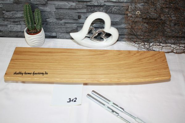 Wandboard Eiche Baumkante 55 cm