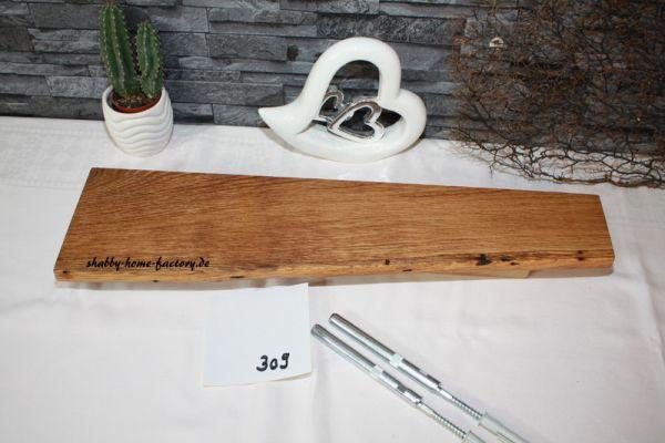 Gestockte Eiche Wandbord mit Baumkante # 309