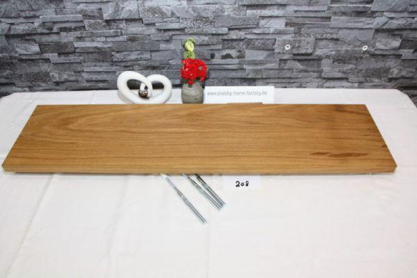 Wandboard Eiche Breite 92 cm / 23 cm Tiefe massiv