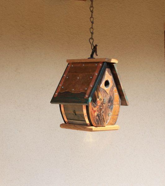 Nistkasten der besonderen Art Vogelhaus Gartendeko Birdhouse