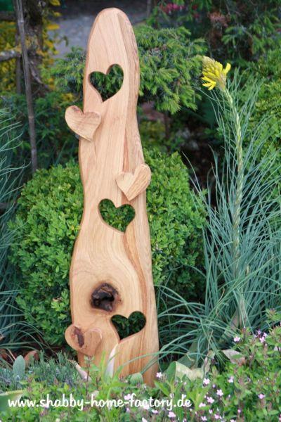 Willkommenschild Eingangsschild Eiche Gartendeko Holzdeko