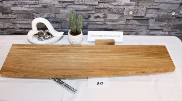 Wandboard Eiche Baumkante 76 cm Wandbrett