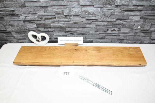 Eiche Wandboard massiv geölt 84 cm Baumkantenboard