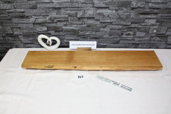 Wandboard Eiche Baumkantenbord massiv 84 cm