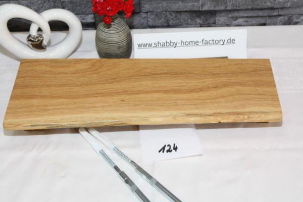 Wandboard Eiche massiv Baumkante 41 cm geölt