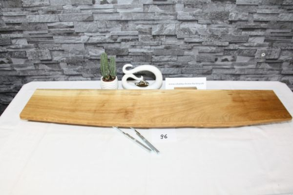 Wandboard Eiche 103 cm Baumkantenbord massiv