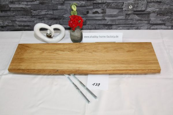 Wandboard Eiche massiv Baumkante 64 cm