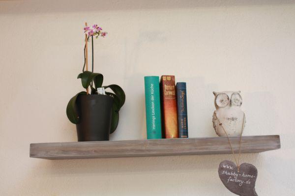 Wandboard Board Bücherbord Holz Massiv 53/25