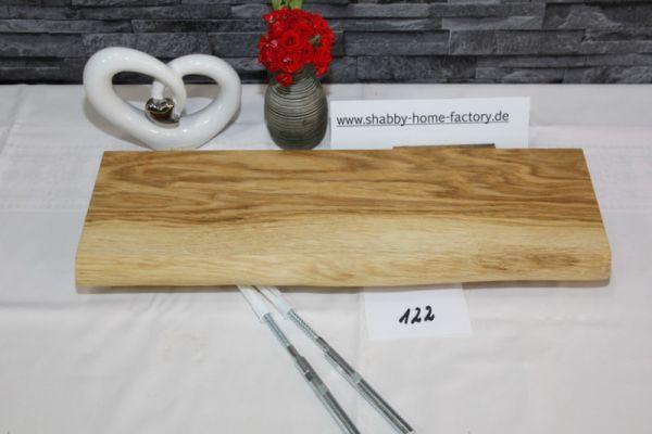 Wandboard Eiche massiv Baumkante 45 cm geölt
