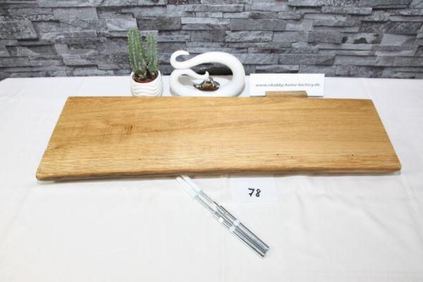 Wandboard Eiche Baumkante 71,5 cm Wandbrett