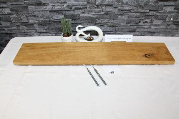 Wandboard Eiche Breite 92 cm / 17 cm Tiefe massiv