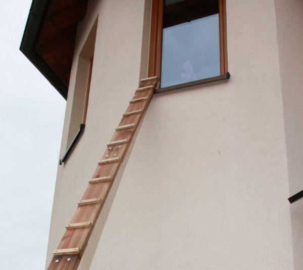 4 m Katzentreppe Außentreppe Katzen Katzenleiter Kiefer FSC
