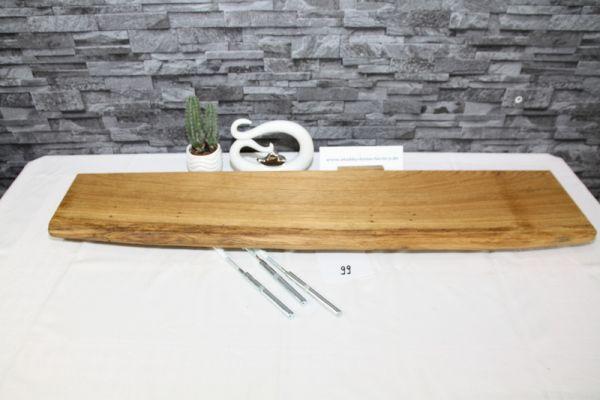 Wandboard Eiche 102 cm Baumkantenbord massiv