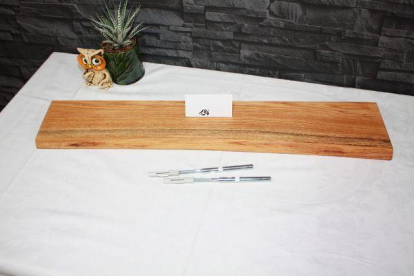 Baumkantenbord Wandboard Eiche massiv 74 cm