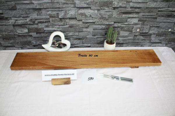 Eiche Wandboard mit besonderer Maserung 90 cm massiv geölt