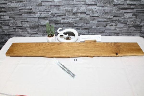 Wandboard Eiche 104 cm Baumkantenbord massiv