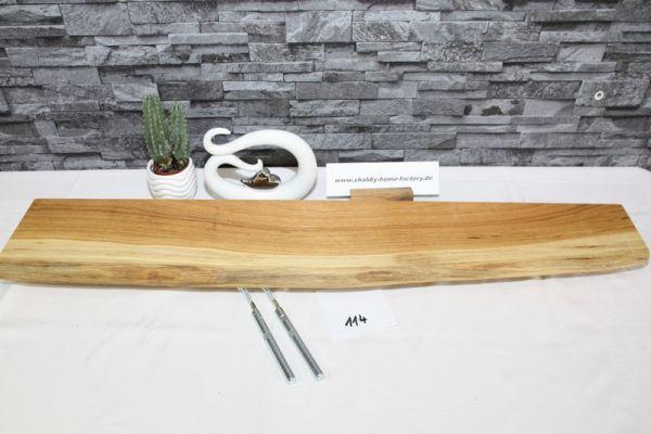 Wandboard Eiche 91 cm Baumkantenbord massiv