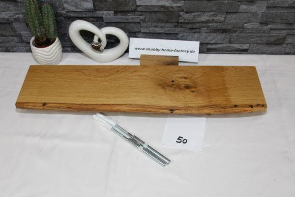 Wandboard Eiche massiv Baumkante 56 cm