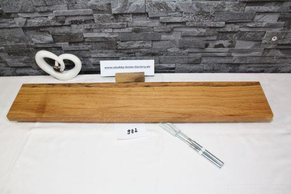 Wandboard Eiche Breite 78 cm / 13 cm Tiefe rustikal
