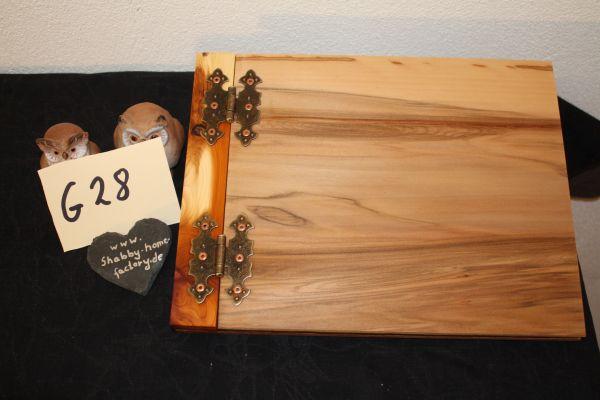 Hochzeitsbuch Holz Gästebuch A 4 Querformat Nußbaum Furnier #28