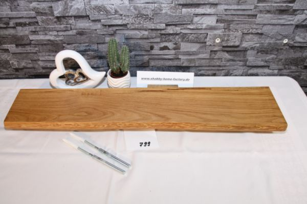 Wandboard Eiche Baumkante 80 cm Wandbrett