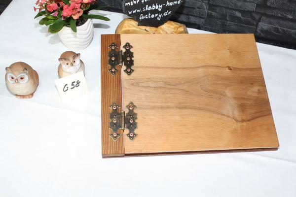 Holzbuch Gästebuch Hochzeit G58