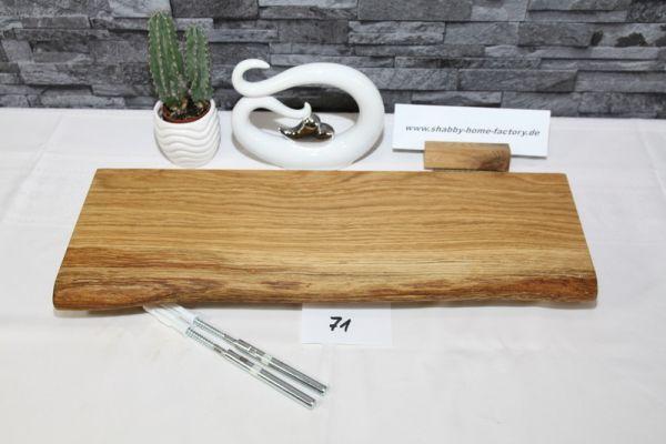 Wandboard Eiche massiv Baumkante 52 cm geölt