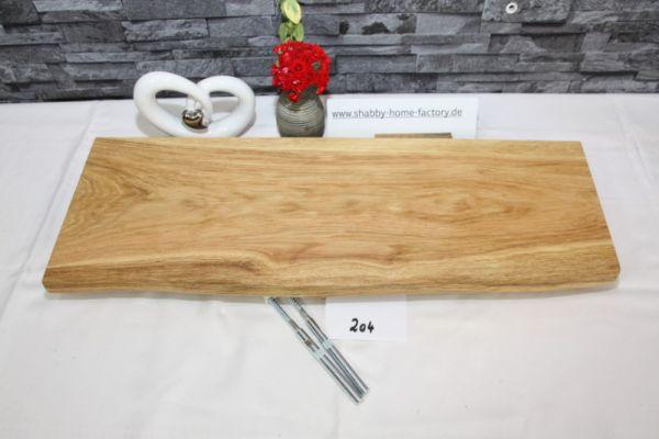 Wandboard 62 cm Eiche massiv Baumkante