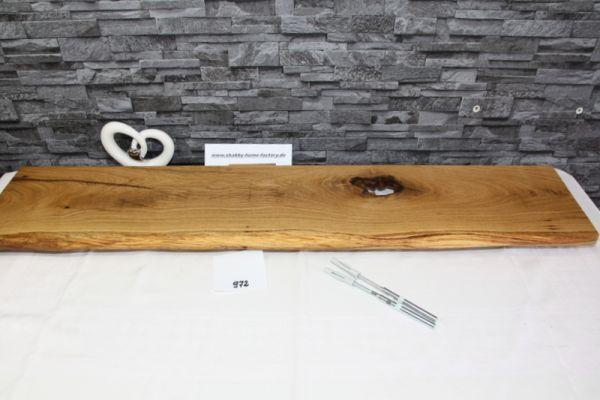 Wandbrett groß und urig Wandboard Eiche Baumkante 113 cm