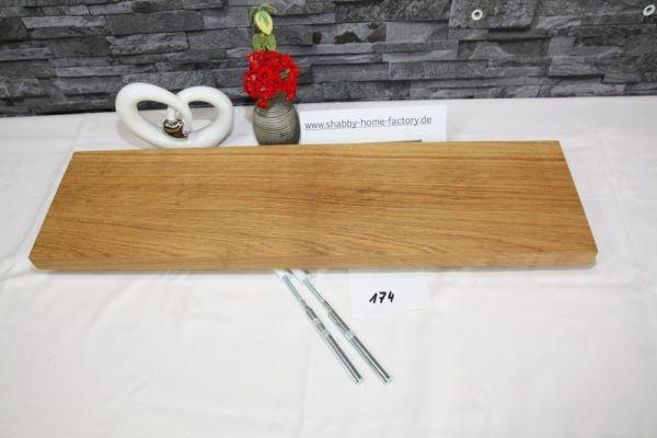 Wandboard Eiche Breite 64 cm Tiefe 17,5 cm massiv geölt