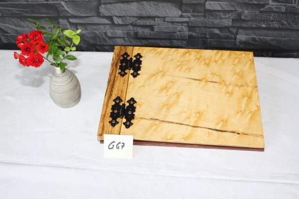 Gästebuch aus Holz A 4 Querformat furniert mit Vogelaugenahorn