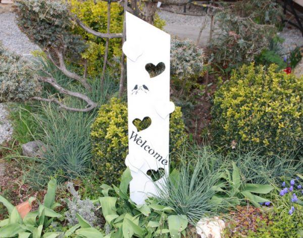 Willkommen Schild Geschenk Holzaufsteller Eingangsschild