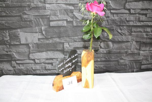 Vase aus Goldregen Massivholz Holzvase #38