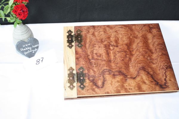 Holzbuch Gastgeschenk Gästebuch aus Holz Hochzeit #87