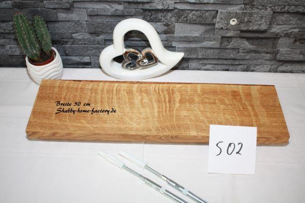 Wandboard Eiche massiv geölt 50 cm mit besonderer Maserung