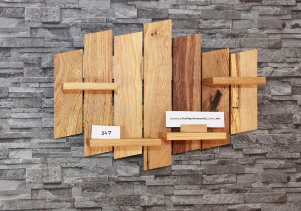 Wandregal Regal Wildeiche Massivholz geölt Regal modern # 347